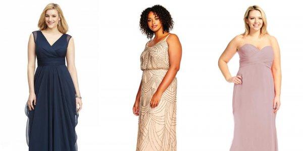 10 Flirty Plus-Size Bridesmaid Dresses