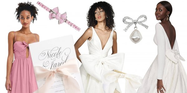 bow wedding gowns and accessories