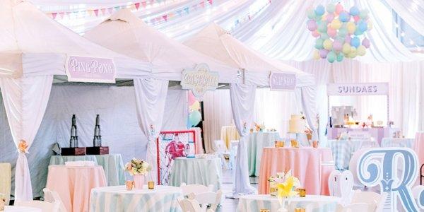 Whimsical wedding reception