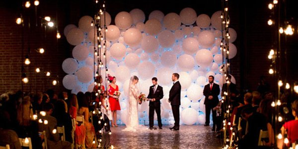 balloon wedding ceremony decor