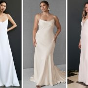 slip wedding gowns