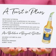 Postpone your wedding card