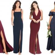 Wine and Midnight Bridesmaid Dresses